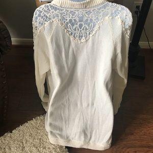 Cream lace sleeved cardigan